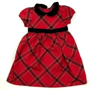 Gymboree 18-24 Months Red Holiday Plaid Dress